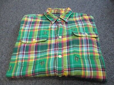 Very Nice Mens Polo Ralph Lauren Button Up Flannel Shirt Size Xl