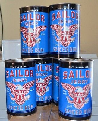 Lot of (6) NEW! Sailor Jerry Spiced Rum Fleet Week 2016 Gas Can Cup