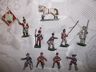10 Small Vintage Lead Toy Soldier Figures