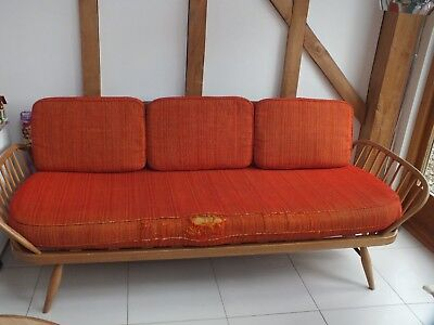 Ercol daybed vintage cushions