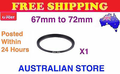 67-72 67mm to 72mm Metal Step Up Step-Up Ring for Filter Lens Stepping Macro