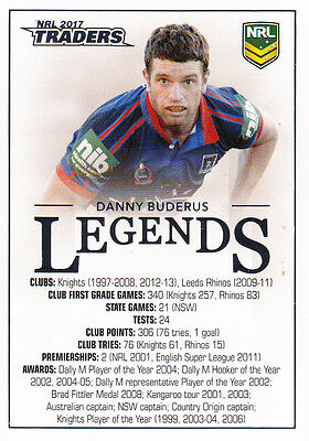 2017 Nrl Traders Legends Case Card - Cc1 Danny Buderus Newcastle Knights - #266