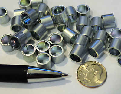 Rolled Steel Spacer Sleeve Bushing Tube Part 7mm x 7.5mm (100 pcs) Craft Rings