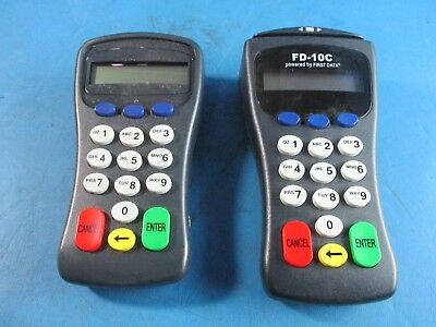 First Data FD-10C PIN Pad w/ Card Reader and FD-10  Pin Pad - USED