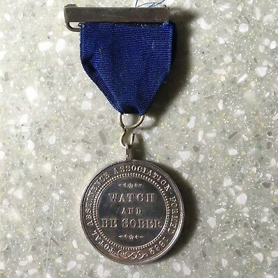 Silver Victorian Army Temperance Medal STA.1, the 1 year medal