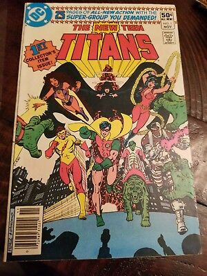 The New Teen Titans #1, Signed By Wolfman And Len Wein, Vf, Key Issue