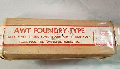 Letterpress metal type 18 pt Coronet Light