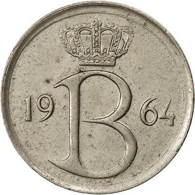 [#429149] Belgium, 25 Centimes, 1964, Brussels, EF(40-45), Copper-nickel
