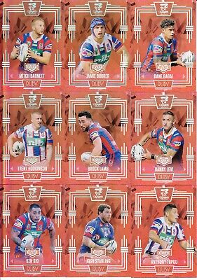 2017 Nrl Elite Limited Edition Ruby Mojo Team Set - Newcastle Knights #35 / 40