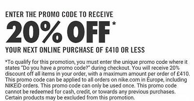 Nike 20% Off Pulse Code Tech Racer Presto Football Air Max Af1 Force
