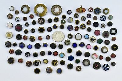 Lot of 109 Antique Victorian Buttons Diminutive Size Small Tiny