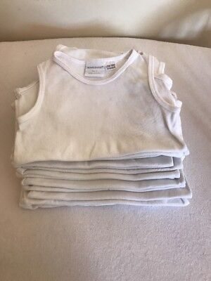 Bundle Of 14 X Marquise White Singlets Size 2