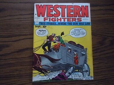 """"""" WESTERN FIGHTERS """" COMIC - Vol.1 - No.10 - 1949"""