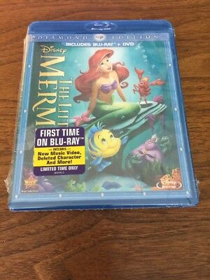 Disney The Little Mermaid (Blu-ray/DVD, 2013, 2-Disc Set, Diamond Edition)