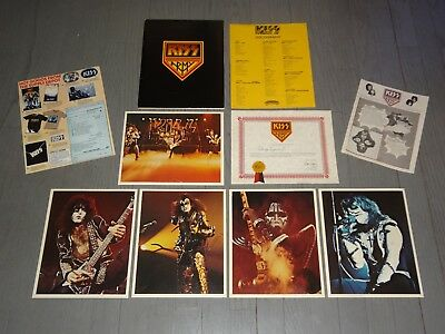 KISS ARMY KIT - 2nd Edition - 1976/1977 LOVE GUN - AUCOIN - Gene/Paul/Ace/Peter