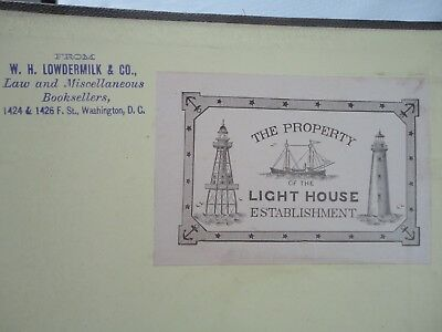 "1891 ""The Property Of The Light House Establishment"" Naval Architects Book"