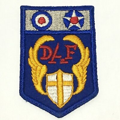 WWII Desert Air Force Shoulder Patch HAS ERROR DAF Embroidered Army Corp   ~101L