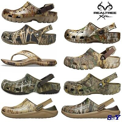 Crocs Realtree Camo Clogs Sandals Shoes Camouflage Water Friendly