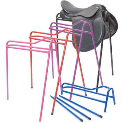 Shires Collapsible Saddle Stand Unisex Stable And Yard Rack - Red One Size