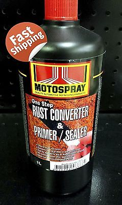 MOTOSPRAY One Step Rust Coverter & Primer/Sealer 1L