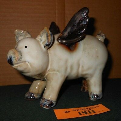 CUTE Glazed Pottery Flying Pig with Wings