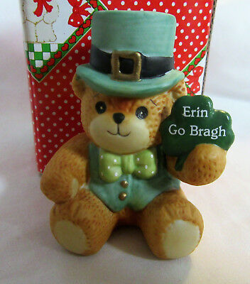 "Lucy & Me ~ Irish Bear ""ERIN GO BRAGH"" ~ St. Patrick's Day Figurine"