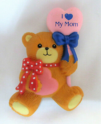 Lucy & Me ~ I LOVE MY MOM ~ Enesco Magnet Figurine