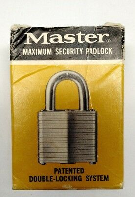 Vintage New Master Lock No.3 Maximum Security Padlock Secret Service Made in USA