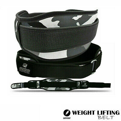 Neoprene Weight Lifting Belt Back Support Gym Fitness Exercise Belt - Grey/Camo
