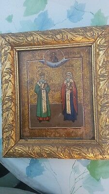 icona russa antica autentica quadro Ancient Russian  icon