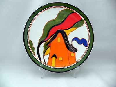 Wedgwood - CLARICE CLIFF - Bizarre Display Plate *ORANGE HOUSE* -Boxed - Mint