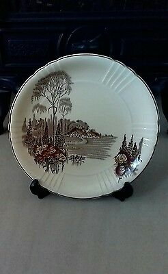 "Myott, Son & Co 9"" Homeland Plate No: 761201"