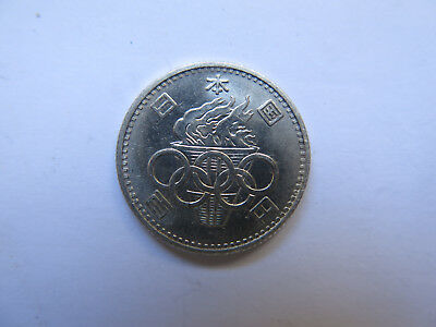 1964 Tokyo Olympics Japan 100 Yen Silver Coin Excellent Uncirculated Condition
