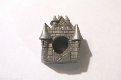 Pewter Castle Candle Holder With  Nice Detail