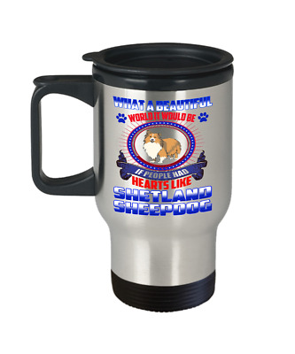 SHETLAND SHEEPDOG DOG, Travel Mug