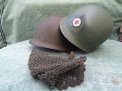 WW2 US M1 Helmet Shell with MSA Liner & Net Cover - Badged 6th Infantry Division