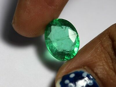Man-Made Emerald Loose 6.43 Ct Rich Green Color Oval Cut Transparent Gemstone