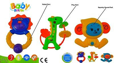 3 Pisces Baby Rattles Rattle Easy Grip Baby Toy Baby Activity Toys 3 Months+