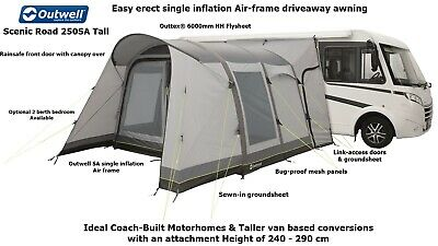 Outwell Scenic Road 250SA Tall- Driveaway Air Awning