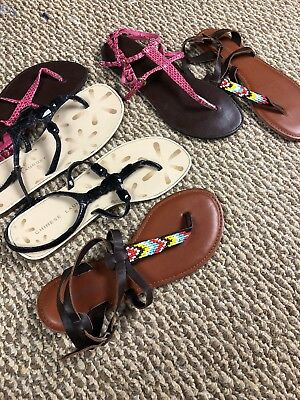 Lot Of 3 Pair Womens Summer Sandals size 8
