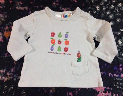 The Very Hungry Caterpillar Baby Boys Long Sleeve Top Size 0