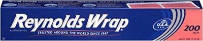 Reynolds Wrap Heavy Duty Aluminum Foil 200 Square Foot Roll High Quality New