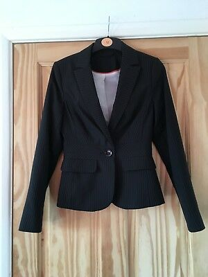 Ladies New Look Suit Jacket, Pin Striped, Size 8, Excellent Condition