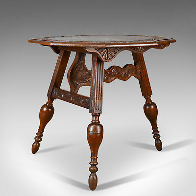 Antique Folding Table, Dutch, Friesland, Oak, Ships, Tavern, Campaign Circa 1880