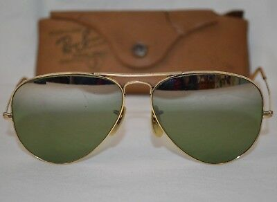 aeb2dae26a Vintage 1940 s Ray-Ban Aviator Sun Glasses B L 1 10 12K Gold Filled Made