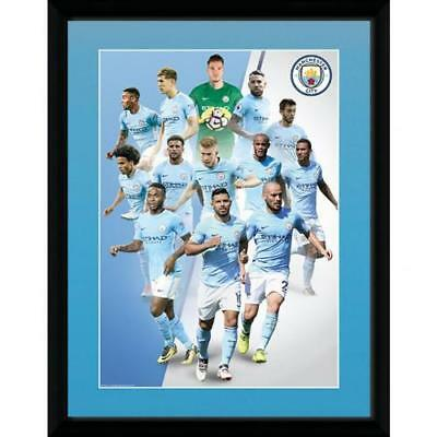 Official Manchester City F.C. Picture Frame Players 16 x 12 Xmas Football Gift