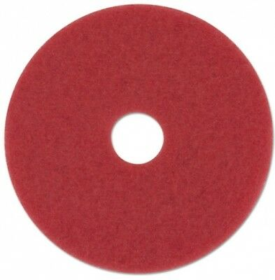 Boardwalk Red Standard Floor Buffing Pads, 5 Count