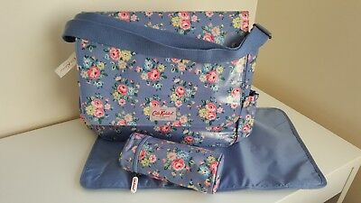 Cath Kidston Nappy/Diaper/Changing Bag with Mat & Bottle Bag Latimer Rose BNWT