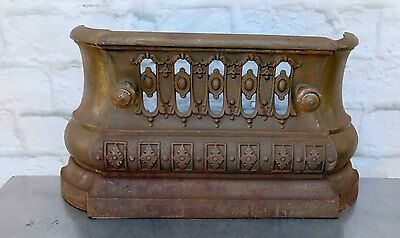 Antique Victorian Cast Iron Fireplace Cover Made by FALKIRK