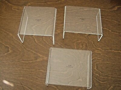 Acrylic Display Stands Set of 3, clear, square, use to display figurines
